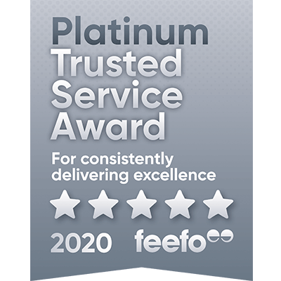 Forbes Rentals Platinum Award, Feefo Independent Ratings
