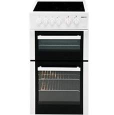 Beko KDVC563AW 50cm Double Oven and Grill Electric Cooker with Rapidlite Ceramic Hob – White – A Rated